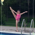 Having Fun in the Sun - Showing off some dance moves by the pool!