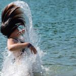 Having Fun in the Sun - Enjoying the water on a hot day!