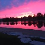 Scenery - A beautiful backyard sunset in South Village